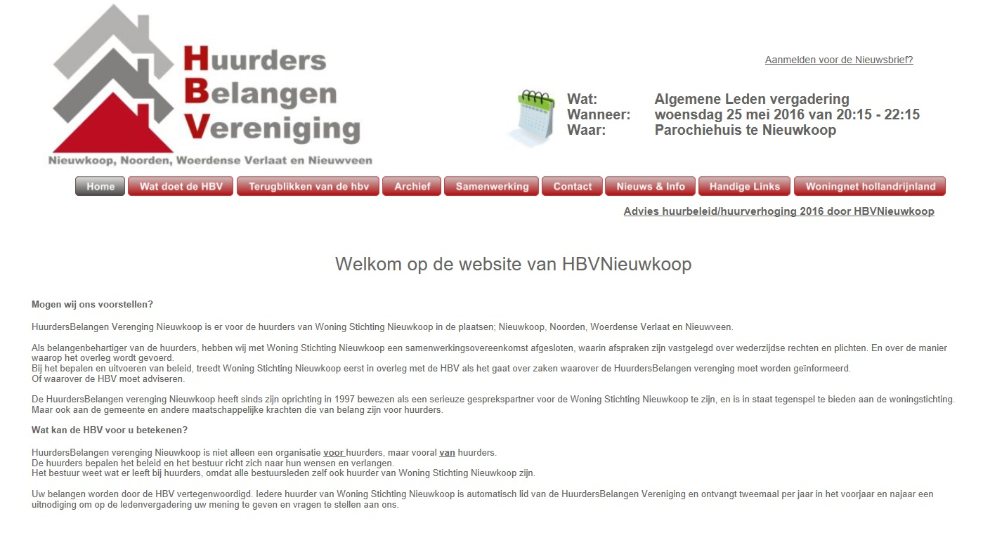 Website | HBVNieuwkoop.nl