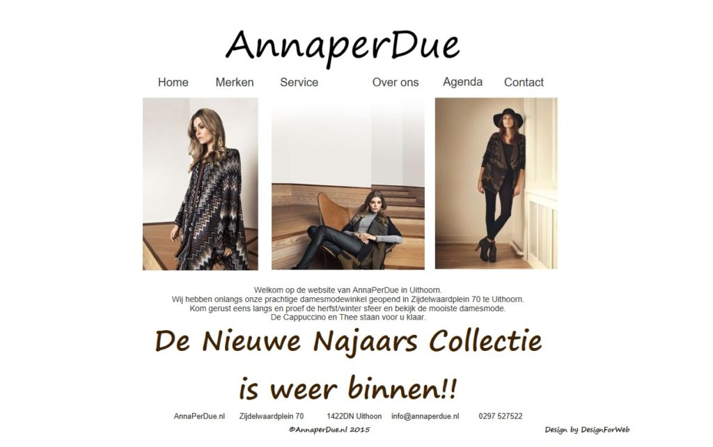 Website | Annaperdue.nl