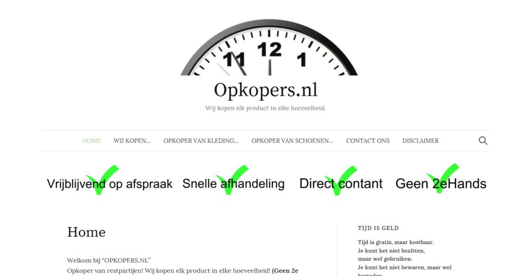 Website | Opkopers.nl